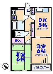 リムーブル・ミニヨン[302号室]の間取り