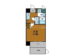 Osaka Metro千日前線 鶴橋駅 徒歩2分の賃貸マンション 1階1Kの間取り