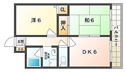 大阪府門真市一番町の賃貸マンションの間取り