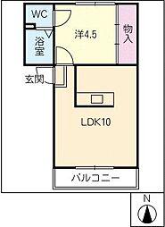 FLAT−K5[1階]の間取り