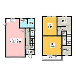 [一戸建] 愛知県一宮市篭屋4丁目 の賃貸【/】の間取り