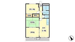 兵庫県姫路市飾磨区中浜町3丁目の賃貸マンションの間取り