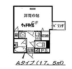 ZEST24[202号室号室]の間取り