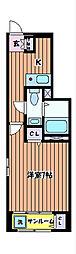 マロンII[1階]の間取り