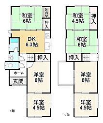 JR東海道・山陽本線 膳所駅 徒歩14分 7DKの間取り