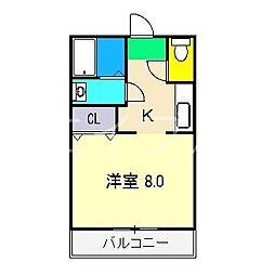 メゾン長尾山12[2階]の間取り