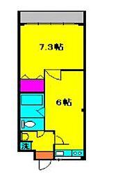 塩島マンション[403号室]の間取り