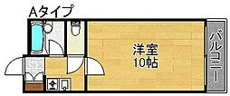 アベニュー西住之江[2階]の間取り