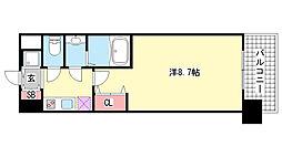 エスライズ新神戸II[203号室]の間取り