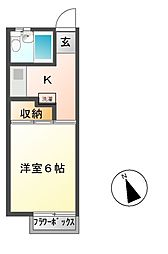 パールメントハイツA[2階]の間取り