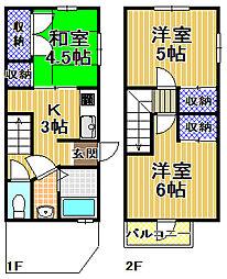 [一戸建] 大阪府大阪市此花区高見3丁目 の賃貸【/】の間取り