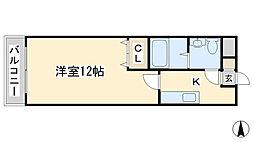 エル片野II[601号室]の間取り