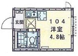 セレン長津田[104号室号室]の間取り