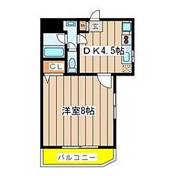 千葉県八千代市大和田の賃貸マンションの間取り