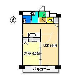 N&A APARTMENT[6階]の間取り