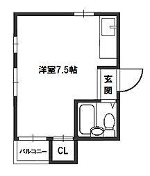 帝塚山ハイツ[4階]の間取り