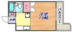 ル・パレ福住[4B号室]の間取り