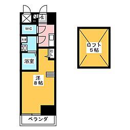 エステムコート名古屋栄デュアルレジェンド[9階]の間取り