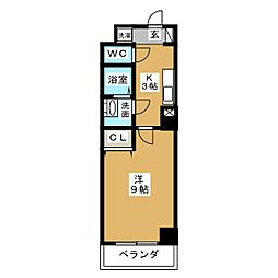 ヴァンキッシュ[11階]の間取り