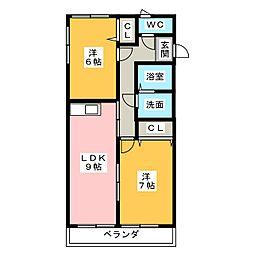 サンドロI[1階]の間取り