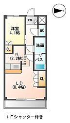 愛知県名古屋市守山区川村町の賃貸アパートの間取り