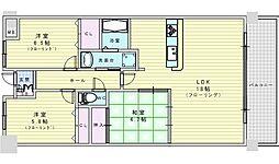 北大阪急行電鉄 千里中央駅 徒歩5分の賃貸マンション 6階3LDKの間取り
