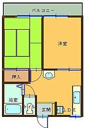 岡田ハイツA[203号室]の間取り