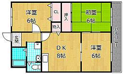 グリーンコート A棟[1階]の間取り