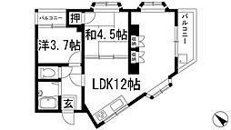 リバーサイドヒル[3階]の間取り