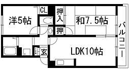 ウエステール桜台[2階]の間取り