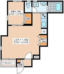 ビオトープKEIO笹塚[1階]の間取り