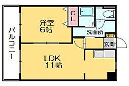 トワサパン[4階]の間取り