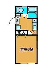 モリオンS[2階]の間取り