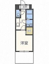 Rupieレジデンス赤坂南 4階1Kの間取り