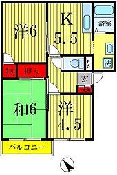 ファミール三郷[202号室]の間取り