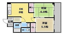 湊川マンション[7階]の間取り