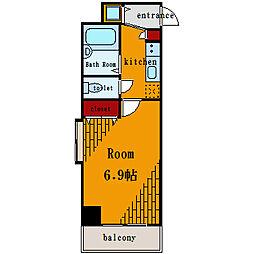 プレール・ドゥーク水天宮II[4階]の間取り