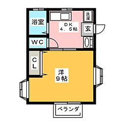 ミユキハイツIII[2階]の間取り
