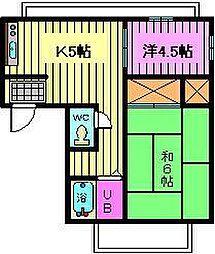 コンフォートマンション 蕨[1階]の間取り