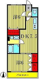 セゾンヴィラージュ[4階]の間取り