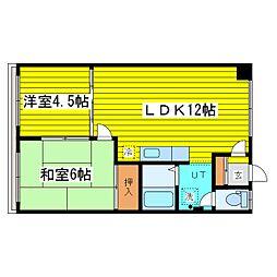 北海道札幌市東区北二十四条東21丁目の賃貸アパートの間取り