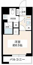 東京都品川区南大井2丁目の賃貸マンションの間取り