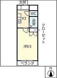 エーデルハイム ツジ[4階]の間取り