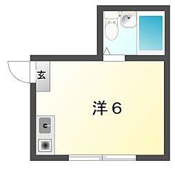 八坂ハイツ[3階]の間取り