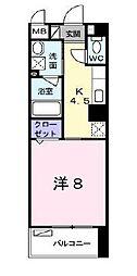 ドミールシモハタ[3階]の間取り