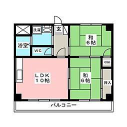 パークハイム63[5階]の間取り