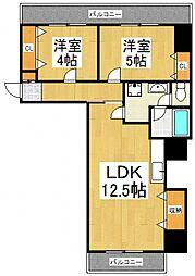 エーデルハイム[6階]の間取り