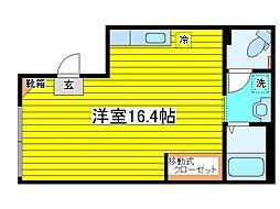 北海道札幌市東区北十六条東12丁目の賃貸マンションの間取り