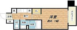大阪府大阪市中央区松屋町の賃貸マンションの間取り