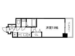 Osaka Metro中央線 堺筋本町駅 徒歩5分の賃貸マンション 4階1Kの間取り